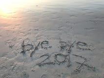 Année d'adieu 2017 Images libres de droits