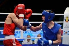 Année d'Orenbourg, Russie 7 mai 2017 : Les boxeurs de garçons concurrencent Images libres de droits