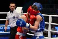 Année d'Orenbourg, Russie 7 mai 2017 : Les boxeurs de garçons concurrencent Photographie stock libre de droits