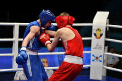 Année d'Orenbourg, Russie 7 mai 2017 : Les boxeurs de garçons concurrencent Photographie stock