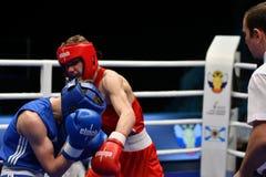 Année d'Orenbourg, Russie 7 mai 2017 : Les boxeurs de garçons concurrencent Image stock