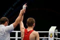 Année d'Orenbourg, Russie 7 mai 2017 : Les boxeurs de garçons concurrencent Photos libres de droits