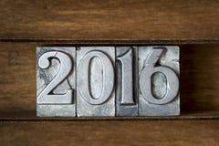 Année de 2016 Images stock