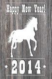 Année 2014 de cheval Photos libres de droits