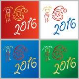 Année de la nouvelle année 2016 de singe Photos stock