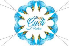 Année de Marathi de Gudi Padwa nouvelle photographie stock
