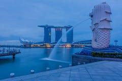 Année de Marina Bay /Lunar de fontaine nouvelle Images libres de droits