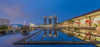 Année de Marina Bay /Lunar de fontaine nouvelle Photos libres de droits