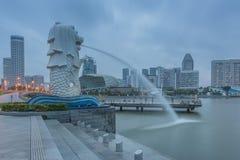 Année de Marina Bay /Lunar de fontaine nouvelle Photo libre de droits