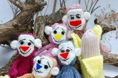 Année de singe, jouet tricoté, symbole, fait main Photographie stock