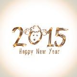 Année du concept de célébrations de la chèvre 2015 Image libre de droits