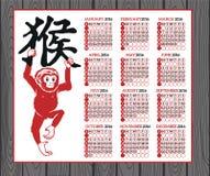 Année du zodiaque de Chinois de singe Image libre de droits
