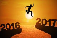 Année heureuse 2017 d'actualités Photo stock