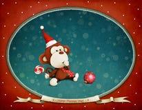 Année heureuse de singe Photo stock
