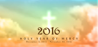 Année sainte de la pitié, illustration, thème chrétien Images stock