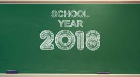 Année scolaire 2018 sur le tableau illustration libre de droits
