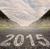 Année 2015 sur l'asphalte Photos stock