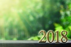 année sur les milieux verts Photos stock