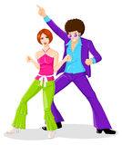 Années '70 de disco illustration stock