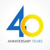 40 années célébrant le logo classique illustration stock