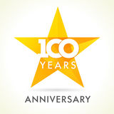 100 années célébrant le logo d'étoile Photographie stock libre de droits