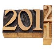 Années changeantes 2011 et 2012 Photo stock