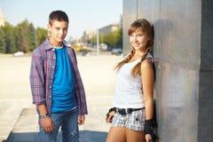 Années de l'adolescence amicales Photos libres de droits