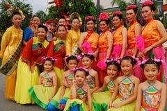 Années de l'adolescence chinoises et enfants Photographie stock libre de droits