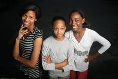 années de l'adolescence d'afro-américain Image stock