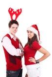 Années de l'adolescence de Noël heureux Images libres de droits