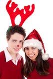 Années de l'adolescence de Noël heureux Image libre de droits