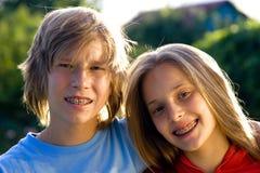 Années de l'adolescence heureuses Photographie stock libre de droits