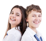 Années de l'adolescence heureuses Photo stock
