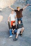 Années de l'adolescence heureuses Photo libre de droits