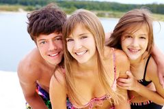 Années de l'adolescence mignonnes d'été Image libre de droits