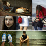 Années de l'adolescence urbaines Images libres de droits
