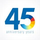45 années de logo Photos stock
