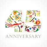 45 années de logo folklorique de célébration luxueux Image stock