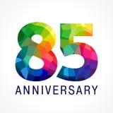 85 années de logotype coloré par verre coloré illustration stock