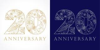 20 années luxueuses Photos libres de droits