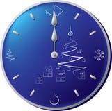 Années neuves d'horloge Images libres de droits