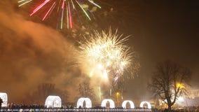 Années neuves de feux d'artifice Image libre de droits