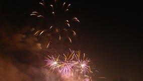 Années neuves de feux d'artifice Photos stock