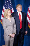 Ann Ρόμνεϊ και Ντόναλντ Τραμπ Στοκ φωτογραφία με δικαίωμα ελεύθερης χρήσης