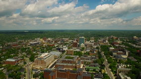Ann Arbor Aerial stock video footage
