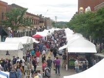 Ann Arbor Art Fair på State Street arkivfoton