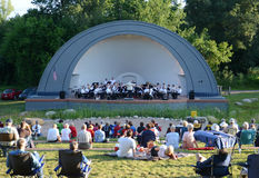 Ann Arbor Civic Band performs at West Park Stock Photo