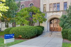 Michigan League Building at University of Michigan. ANN ARBOR, MI/USA - OCTOBER 20, 2017: Michigan League building on the campus of the University of Michigan Royalty Free Stock Images