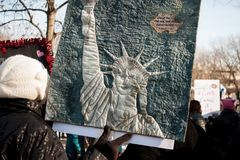 Ann Arbor Michigan 2018 Women`s March. On Saturday, January 20th, 2018, unite in Ann Arbor to rally again!! In response to overwhelming demand, the organizers of Stock Images
