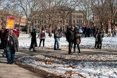 Ann Arbor Michigan 2018 Women`s March. On Saturday, January 20th, 2018, unite in Ann Arbor to rally again!! In response to overwhelming demand, the organizers of Royalty Free Stock Images